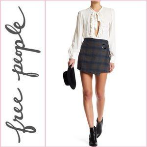 NEW Free People Tessa Plaid Skirt